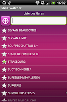 Screenshot of SNCF Watcher