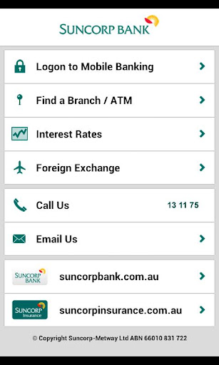 suncorp-bank for android screenshot