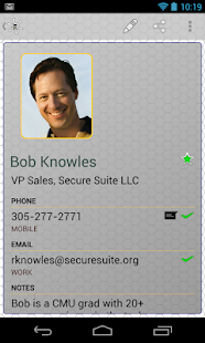 Secure Contacts & Passwords - screenshot