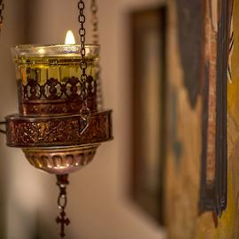 prayer by Branislav Rupar - Artistic Objects Other Objects ( priest, god, orthodoxy, church, faith, monastery, nikon d600, icons, house, nikon 105mm f/2.8, light )