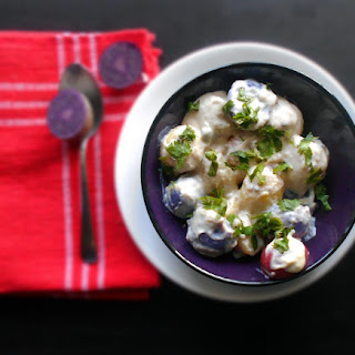 Potato Salad with Vegan Mayo and Cardamom