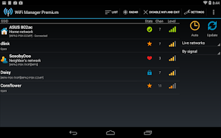 Screenshot of WiFi Manager