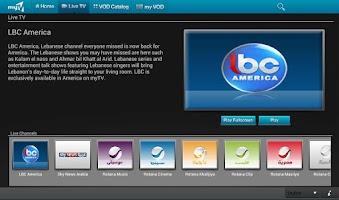 Screenshot of myTV