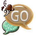 GO SMS THEME/GirlyBrnTeal