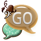GO SMS THEME/GirlyBrnTeal icon