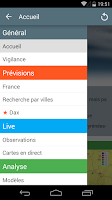 Screenshot of Météociel