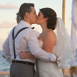 You may kiss the bride. by Michelle J. Varela - Wedding Ceremony