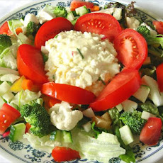 Lettuce Salad With Egg Salad