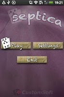 Screenshot of Septica Card Game