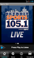 Screenshot of Detroit Sports 105.1