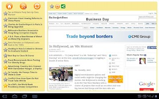 Screenshot of RSS Reader