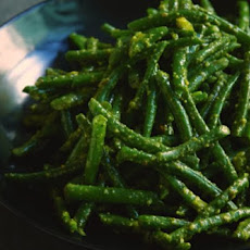 Green Beans With Pistachio Pesto Recipe