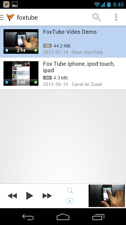 FoxTube - YouTube Player Screenshot 0