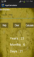 Screenshot of Age Calculator
