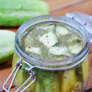 Fresh Cucumber Pickles {a.k.a. Refrigerator Pickles}