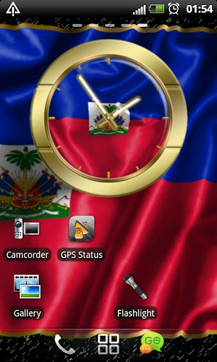Haiti flag clocks