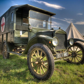 by John Walton - Transportation Automobiles ( ww1, red cross, ford model t, war )