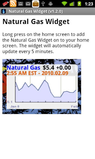 Natural Gas Widget