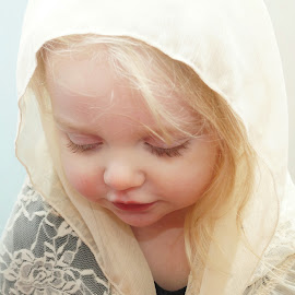 Praying by Cheryl Korotky - Babies & Children Child Portraits