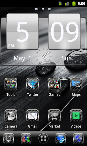 Black Glass Go Launcher Theme