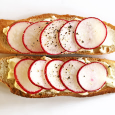 Radish and Butter Sandwich