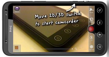 Screenshot of HTC EVO 3D Camcorder Button