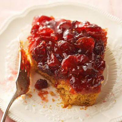 Pumpkin-Cherry Upside-Down Cake