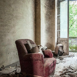 have a seat by Nicky Staskowiak - Artistic Objects Furniture ( belgium, furniture, abandoned, decay, , Chair, Chairs, Sitting )