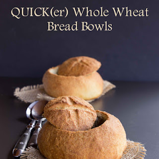 Quick(er) Whole Wheat Bread Bowls