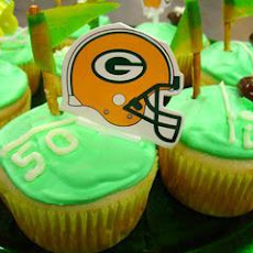 Decorated Football Poke Cupcakes