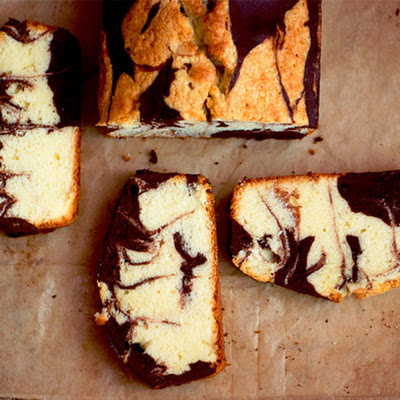 Almond-Chocolate Marble Pound Cake