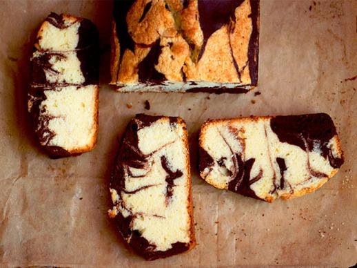 Almond-Chocolate Marble Pound Cake Recipe | Yummly
