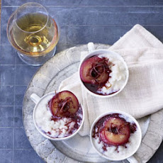 Creamy Rice Pudding With Stewed Plums