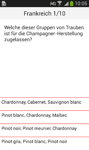 Das Weinquiz - screenshot