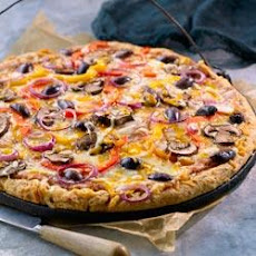 All-Bran Veggie Pizza With Cheese Crust