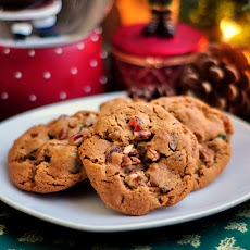 Dark Fruitcake Spice Cookies