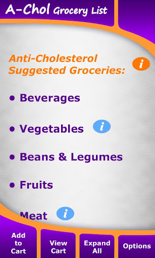 Anti-Cholesterol Grocery List