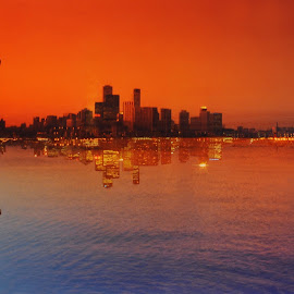 Toronto Day and Night by Leka Huie - City,  Street & Park  Skylines ( toronto, Urban, City, Lifestyle )