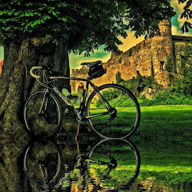 Merida and Cahir Castle by Rafal Sych - Transportation Bicycles