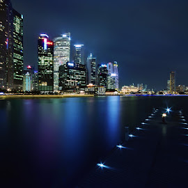 Runway and Skyline by Ken Goh - City,  Street & Park  Skylines