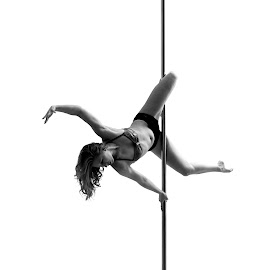 Pole by Vítězslav Malina - Sports & Fitness Fitness ( poledance, sexy, girl, fitness, black and white, white, sport )