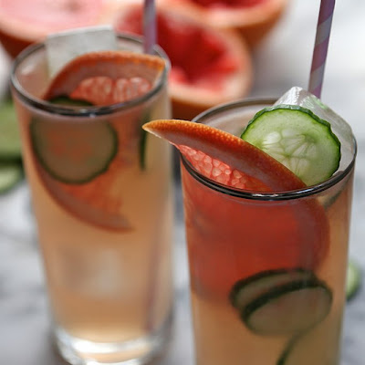 Grapefruit Cucumber Cocktails