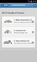 Screenshot of SIBA Parade of Homes