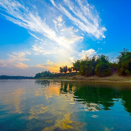 A Beautiful Evening at Lalakhal-Sari River  by Syed Hassan - Landscapes Waterscapes ( bangladesh, sunset, sylhet )