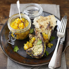 Indian Lamb With Spiced Pumpkin Pickle