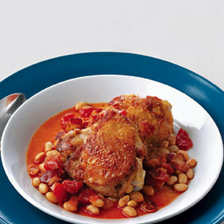 Baked Chicken with White Beans and Tomatoes Recipe | Yummly
