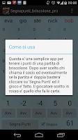Screenshot of segnapunti briscolone PRO