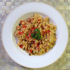 Roasted Garlic Couscous With Tomatoes & Basil