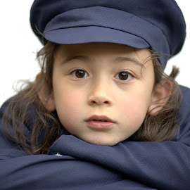 Blue uniform by Jason Lovell - Babies & Children Child Portraits ( girl, blue, uniform, play, beauty, cute, young )