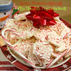 White Chocolate Peppermint Bark!